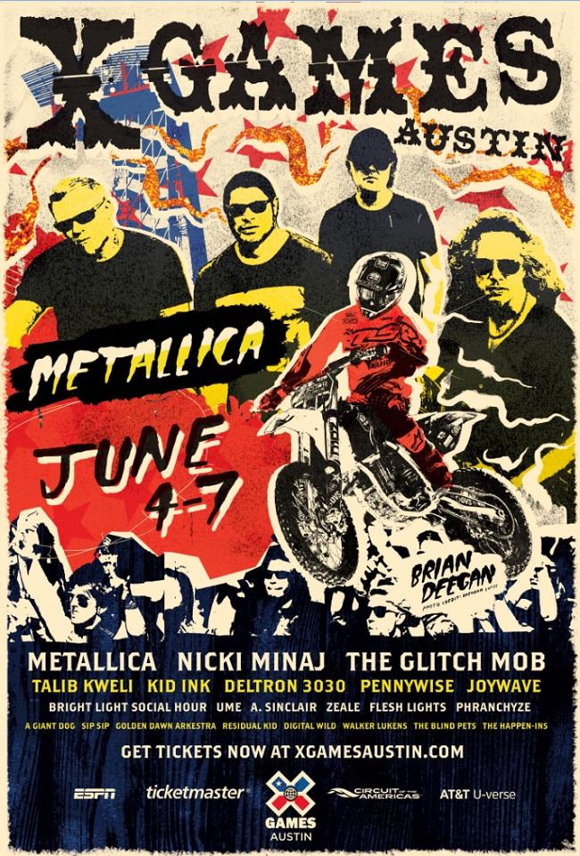 Metallica-X-Games-poster